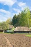 Vecchia azienda agricola ucraina Fotografie Stock Libere da Diritti