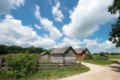 Vecchia azienda lattiera d'annata di Wisconsin Fotografia Stock