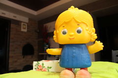 Vecchia bambola dall'infanzia Fotografie Stock
