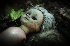 Vecchia bambola in Pripyat Fotografie Stock