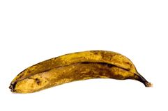 Vecchia banana Fotografia Stock Libera da Diritti