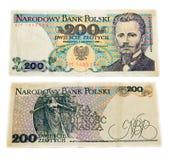 Vecchia banconota polacca Immagini Stock