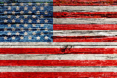 Vecchia bandiera americana dipinta Fotografia Stock