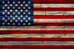 Vecchia bandiera americana dipinta Fotografia Stock Libera da Diritti