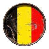 Vecchia bandiera del Belgio Fotografie Stock