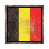 Vecchia bandiera del Belgio Fotografia Stock Libera da Diritti