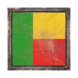 Vecchia bandiera del Benin Fotografia Stock Libera da Diritti