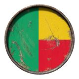 Vecchia bandiera del Benin Fotografia Stock