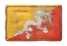Vecchia bandiera del Bhutan Fotografia Stock Libera da Diritti