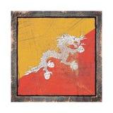 Vecchia bandiera del Bhutan Immagini Stock