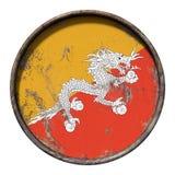 Vecchia bandiera del Bhutan Immagine Stock