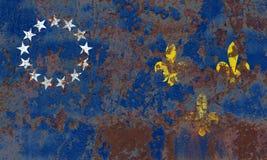 Vecchia bandiera del fumo della città di Louisville, stato del Kentucky, Stati Uniti di Fotografie Stock