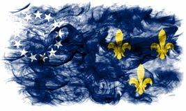 Vecchia bandiera del fumo della città di Louisville, stato del Kentucky, Stati Uniti di Fotografie Stock Libere da Diritti