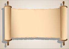 Vecchia bandiera del rotolo Immagine Stock Libera da Diritti