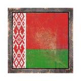 Vecchia bandiera della Bielorussia Fotografia Stock Libera da Diritti