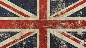 Vecchia bandiera della Gran-Bretagna sbiadita di lerciume annata Fotografia Stock