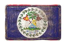 Vecchia bandiera di Belize Immagine Stock Libera da Diritti