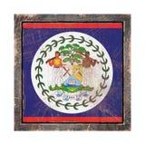 Vecchia bandiera di Belize Immagine Stock