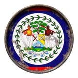 Vecchia bandiera di Belize Fotografia Stock Libera da Diritti