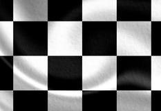 Vecchia bandiera di corsa illustrazione di stock