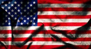 Vecchia bandiera di lerciume degli Stati Uniti Immagini Stock