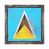 Vecchia bandiera di Santa Lucia Immagine Stock Libera da Diritti