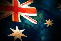 Vecchia bandierina australiana Fotografia Stock Libera da Diritti