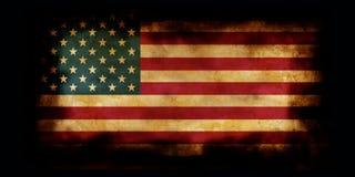 Vecchia bandierina degli S.U.A. con i bordi bruciati Fotografie Stock