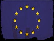 Vecchia bandierina Unione Europea dell'annata Fotografie Stock