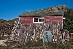 Vecchia baracca di pesca Fotografia Stock