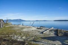 Vecchia baracca di pesca Fotografia Stock Libera da Diritti