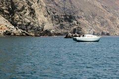 Vecchia barca arrugginita Fotografia Stock Libera da Diritti