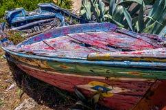 Vecchia barca colante tradizionale Immagini Stock Libere da Diritti
