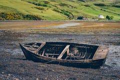 Vecchia barca del relitto Immagini Stock