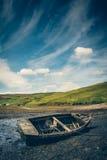 Vecchia barca del relitto Fotografia Stock