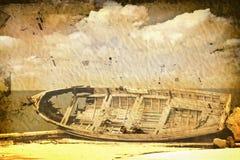 Vecchia barca dell'annata Fotografia Stock