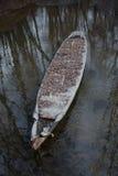 Vecchia barca di fiume Fotografie Stock Libere da Diritti