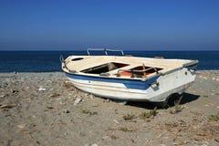 Vecchia barca di legno Fotografia Stock