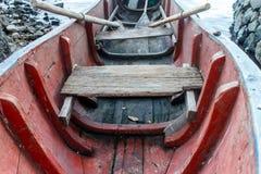 Vecchia barca di legno dettagliatamente fotografia stock
