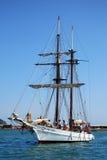 Vecchia barca di navigazione nei Imperia Immagini Stock Libere da Diritti