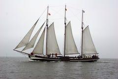 Vecchia barca di navigazione olandese classica Immagine Stock Libera da Diritti