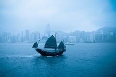 Vecchia barca a Hong Kong Fotografie Stock Libere da Diritti