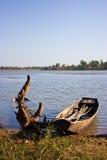 Vecchia barca in laghi Fotografia Stock Libera da Diritti