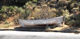 Vecchia barca marcia fotografie stock