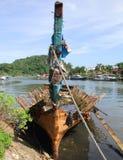 Vecchia barca in Padang, Idonesia immagini stock libere da diritti