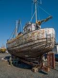 Vecchia barca Reykjavik Fotografie Stock Libere da Diritti
