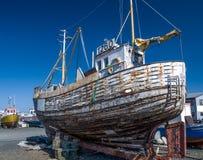 Vecchia barca Reykjavik Fotografia Stock