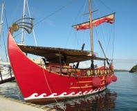 Vecchia barca rossa Fotografia Stock Libera da Diritti