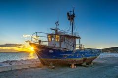 Vecchia barca rovinata Fotografia Stock Libera da Diritti