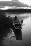 Vecchia barca tailandese al fiume del mekhong Fotografia Stock Libera da Diritti